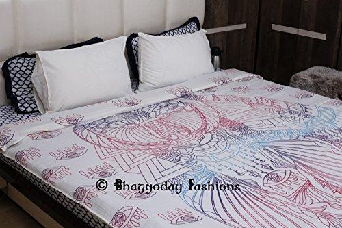 100% Baumwolle Bettbezug-Set mit Kissen Abdeckungen von