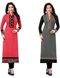 Royalty Women's Cotton Dress Material (RLT 0204_Multicolor_Free Size)