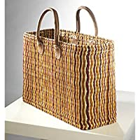 Einkaufstasche aus Seegras sehr stabile Ausführung mit Ledergriff Bund