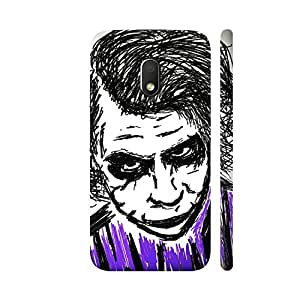 Colorpur Moto G4 Play Cover - Joker Dark Knight Printed Back Case