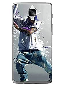 OnePlus 3 Case - Move Your Hips - Western - for Hip Hoppers - Designer Printed Hard Case with Transparent Sides