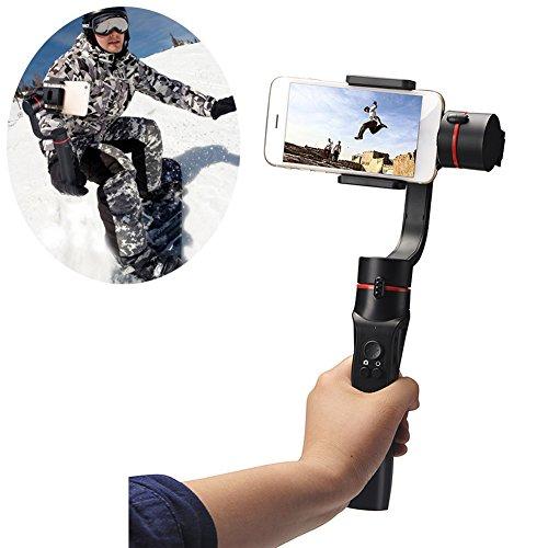Morehappy7 SteadyGo - Gimbal estabilizador para Smartphone - motorizado Recargable de 3 Ejes de Mano para fotografía Digital Suave y Estable y técnicas avanzadas de filmación de vídeo