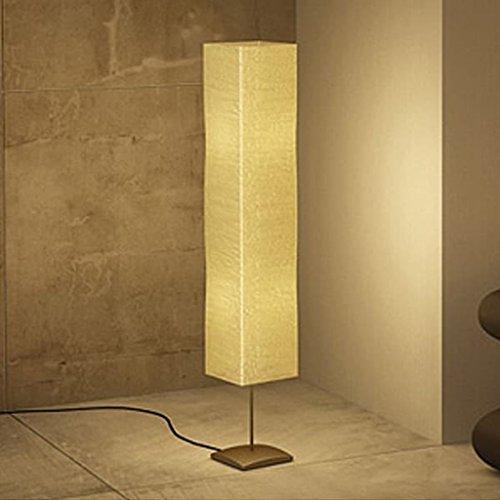 Lampe zu Fuß von Wohnzimmer 135cm Alu creme und Reis-Papier -