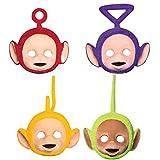4 Party-Masken * TELETUBBIES * für Kindergeburtstag oder Motto-Party // Mask Verkleidung Kostüm Kinder Geburtstag Tele Tubbies