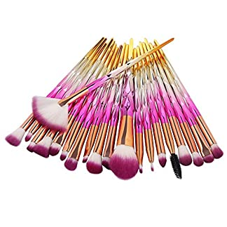 Kit de Brochas Maquillaje,JiaMeng Nuevo 18 unids Conjunto de Herramientas de Pincel de Maquillaje Kit de baño de Maquillaje Conjunto de Pincel de Maquillaje de Lana