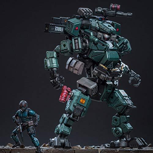 YAHAMA 21cm Modell Figuren 1 25 Mecha Spielzeug Mecha Kit Entfernbar ML Angriff Mecha Modell Eisenskelett Mit 7.5cm Soldat Modell - Mech-modell-kit