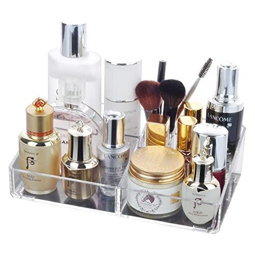Plateau de Maquillage Clair Organisateur d Stockage Cosmétique pour Les Produits de Beauté de Comptoir de Salle de Bain, Soin Des Cheveux, Maquillage