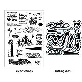 ECMQS Leuchtturm DIY Transparente Briefmarke, Silikon Stempel Set, Clear Stamps, Schneiden...