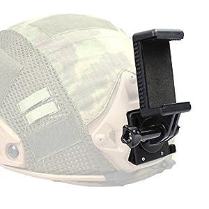Huenco Support de Fixation de Support Avant pour Casques Tactiques Fast/AF / M88 / Mich pour caméra d'action Airsoft Paintball