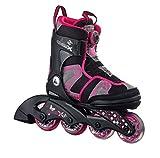 K2 Kinder Inline Skate Charm X Boa, Pink/Grau/Schwarz, S (29-34 EU)