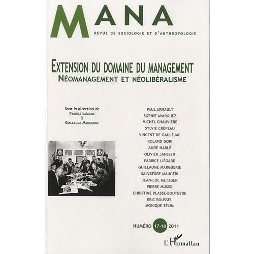 Extension du Domaine du Management Neomanagement et Neoliberalisme