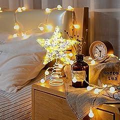 Idea Regalo - VersionTECH. Stella per Albero di Natale Puntale Albero Stella con Illuminazione Luci LED, Accessori Albero di Natale, Punta per Albero di Natale, Luce bianca calda