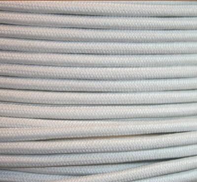 Textilkabel Stoffkabel Baumwolle Weis , 2-adrig rund , 2x0,75 von Globe Warehouse - Lampenhans.de