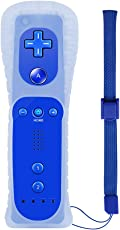 Wii Controller, XW17 Nintendo Wii Ferbedienung mit Silikonhülle und Handschlaufe für Wii und Wii U Dunkleblau