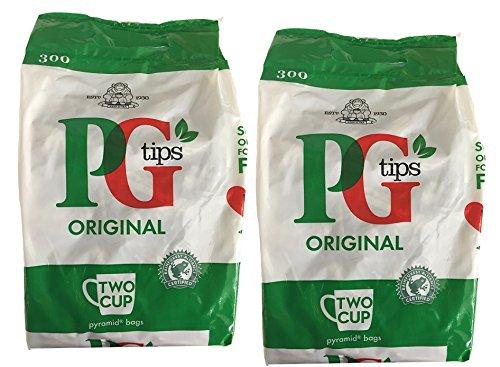 PG Tips Schwarzer Tee 300 Beutel 2er Pack (Ingesamt 600 Beutel)