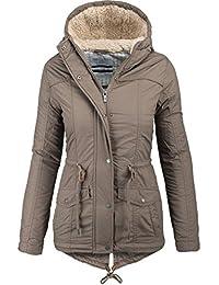 Urban Surface warme Damen Winter Jacke Parka Mantel Winterjacke Teddyfell B294