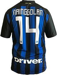 e4f1b47810f69 Camiseta Jersey Futbol Inter F.C Radja Nainggolan Replica Oficial  Autorizado 2018-2019 Niños (2