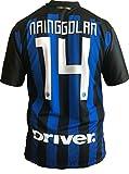 F.C. INTER - L.C. SPORT srl Maglia Inter Nainggolan 14 Replica Autorizzata 2018-2019 Bambino (Taglie-Anni 2 4 6 8 10 12) Adulto (S M L XL) (8 Anni)