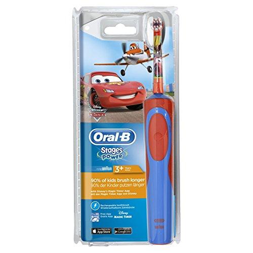 Oral-B Stages Power Kids Elektrische Kinderzahnbürste, im Disney Autos und Flugzeug Design