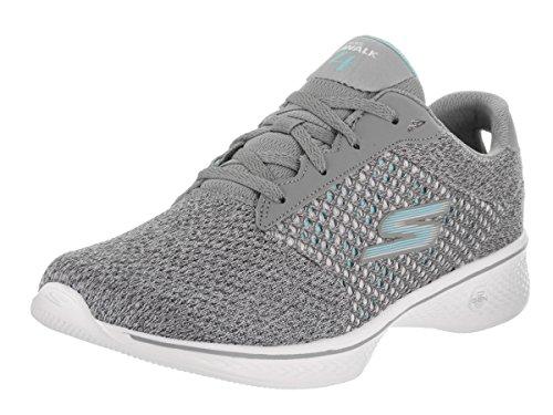 Skechers Women's Go Walk 4 - Exceed Wide Gray Casual Shoe 8...