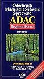 ADAC Karte, Oderbruch, Märkische Schweiz, Spreewald