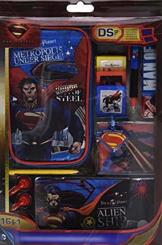 "Zubehör Set 16in1 für Nintendo DS Lite i XL 3DS ""Superman - Man of Steel"""