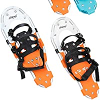 Physionics® Snowshoes (Different Sizes and Colours) Non-slip Aluminium Crampons Snow Shoes incl. Carrying Bag
