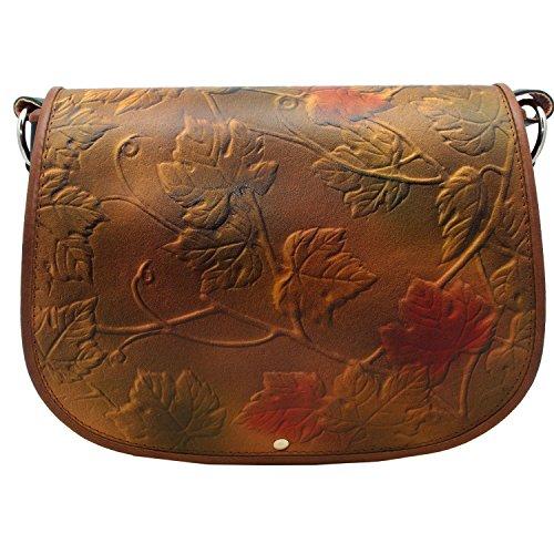 kōson Leder gegossenem autumnleaves Handarbeit Umhängetasche Handtasche Messenger Bag (Leder Hobo Geldbörse Urban Handtasche)