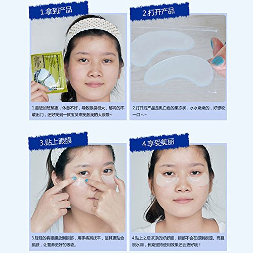 Anti-Wrinkle Dark Circle Gel Collagen Under Eye Patches Pad Mask Bag 1pcs