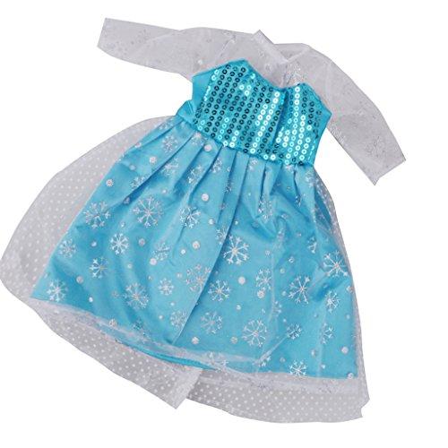 MagiDeal Princess Kleidung Sequined Abendkleid Kleid Outfit für 18 '' American Girl Puppe (Zoll Puppen Hochzeit 18 Kleid Für)