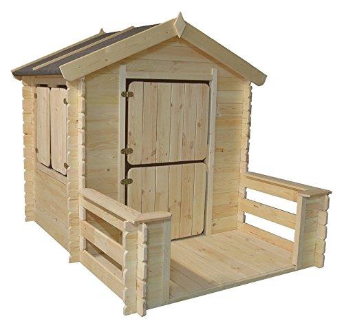 Kinder-Spielhaus Play Park, Maße: 1,75 x 1,30 m, aus 19mm Blockbohlen