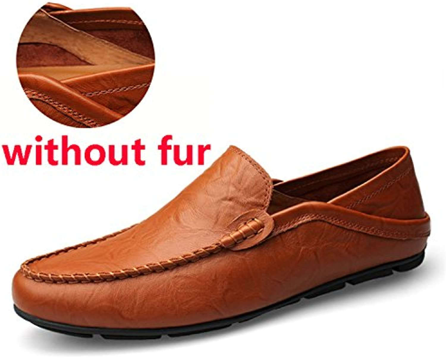 Stongsexy Men Loafers Spring and Autumn Mens Moccasins Shoes Genuine Leather Men's Flats Shoes