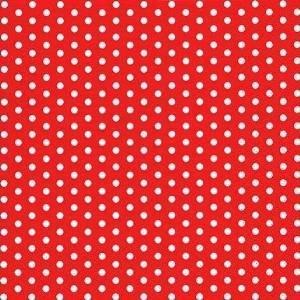 ti-flair - Servietten - Bolas red - Punkte / gepunktet / rot ... Cocktail, 24x24cm