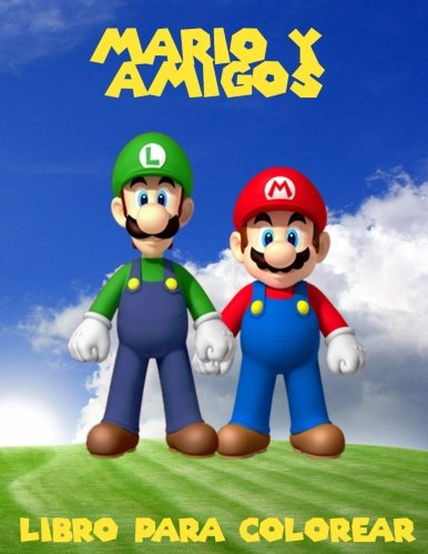 Mario y amigos livro para colorir: un gran libro para colorear para los niños de 40 páginas de diversión. por K W Books