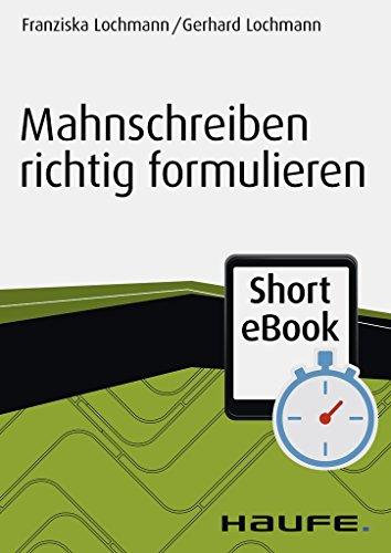 Mahnschreiben Richtig Formulieren Haufe Fachbuch 11004 Ebook