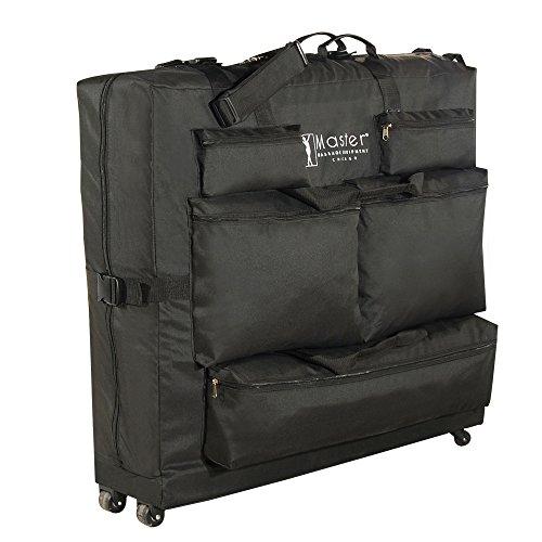 Master Massage 78799 - Bolsa de transporte para camillas de masaje (tejido de nailon, con ruedas), color negro