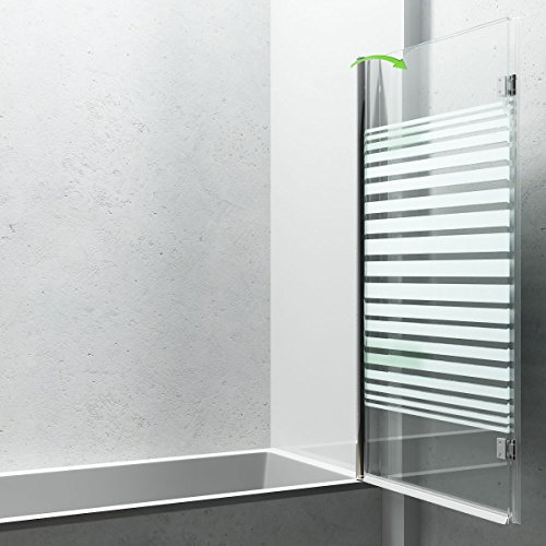 Duschabtrennung / Duschwand für Badewane aus Glas Cortona1408S-rechts, Wandanschlag rechts, inkl. Nanobeschichtung - 3