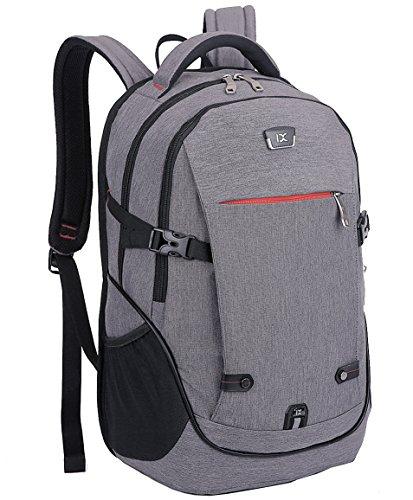 "FREEMASTER Laptop Rucksack Bag 15.6"" Zoll Notebook Backpack Schwarz Wasserdicht 22 Liters 45 * 27 * 15 cm (Grau)"