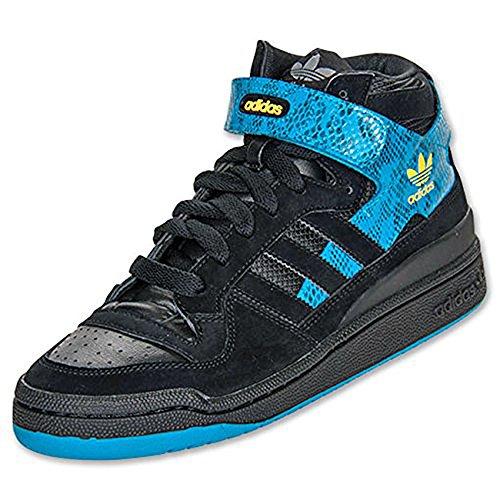 Adidas Forum MID Schuhe Sneaker Turnschuhe Trainers schwarz Leder Schwarz / Blau