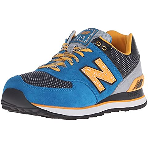 New Balance Womens 574 Outside In Classics Traditionnels Suede Trainers