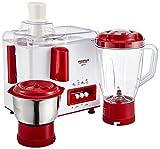 #5: Maharaja Whiteline Gala JX-117 450-Watt Juicer Mixer Grinder with 2 Jars (White/Majestic Maroon)