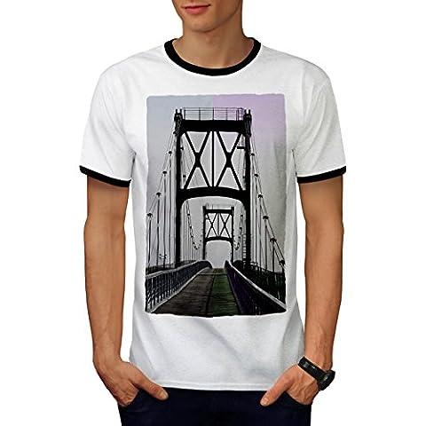 Pont Urbain Route Mode rivière Structure Homme S T-shirt à sonnerie | Wellcoda