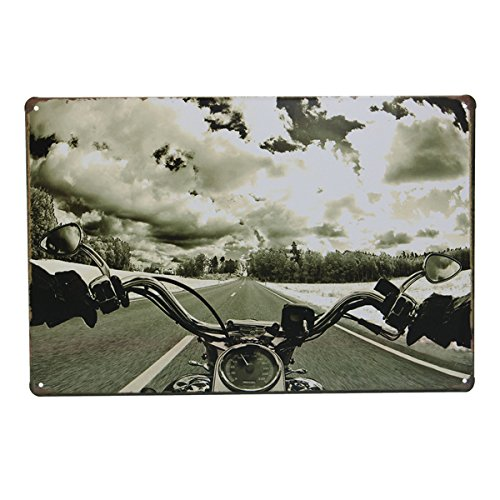 Bluelover Decoración De La Pared De Carretera Motos Tin Cartel Vintage Metal Placa Bar Pub