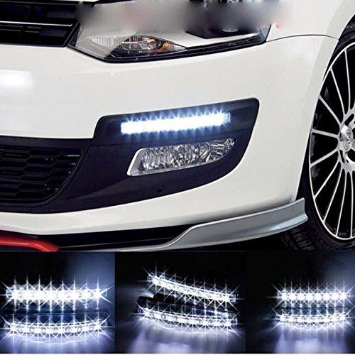 Kit feux de jour voiture LED Daylight avant type universelle pour calandre ESS TECH® phare 8 led style golf universelle