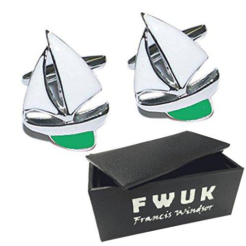 Port & Starboard Yachten Metall Manschettenknöpfe und Geschenkbox, von Francis Windsor -