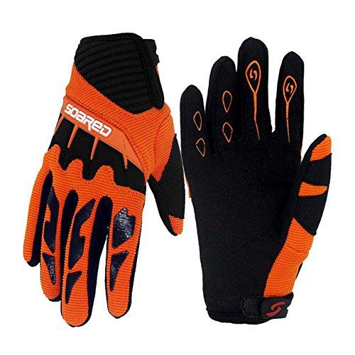 Gtopart - Guantes transpirables para niño, 50 g, para ciclismo o patines, color naranja, tamaño extra-small