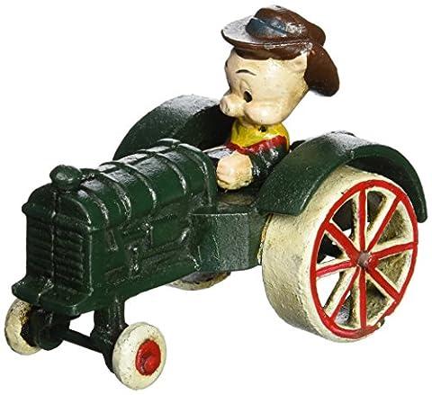 Design Toscano Farmer Pig Replica Cast Iron Farm Toy Tractor
