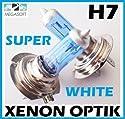 2x H7 Birnen 100Watt GAS Xenon Optik 12V Halogen Lampen Super White Autolampen