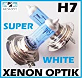 2x H7 Birnen 100Watt GAS Xenon Optik 12V Halogen Lampen Super White Autolampen