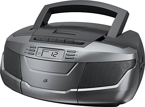 GPX, Inc. bca206s Tragbares AM/FM Boombox mit CD und Kassetten Player (Ipod-boombox Cd)